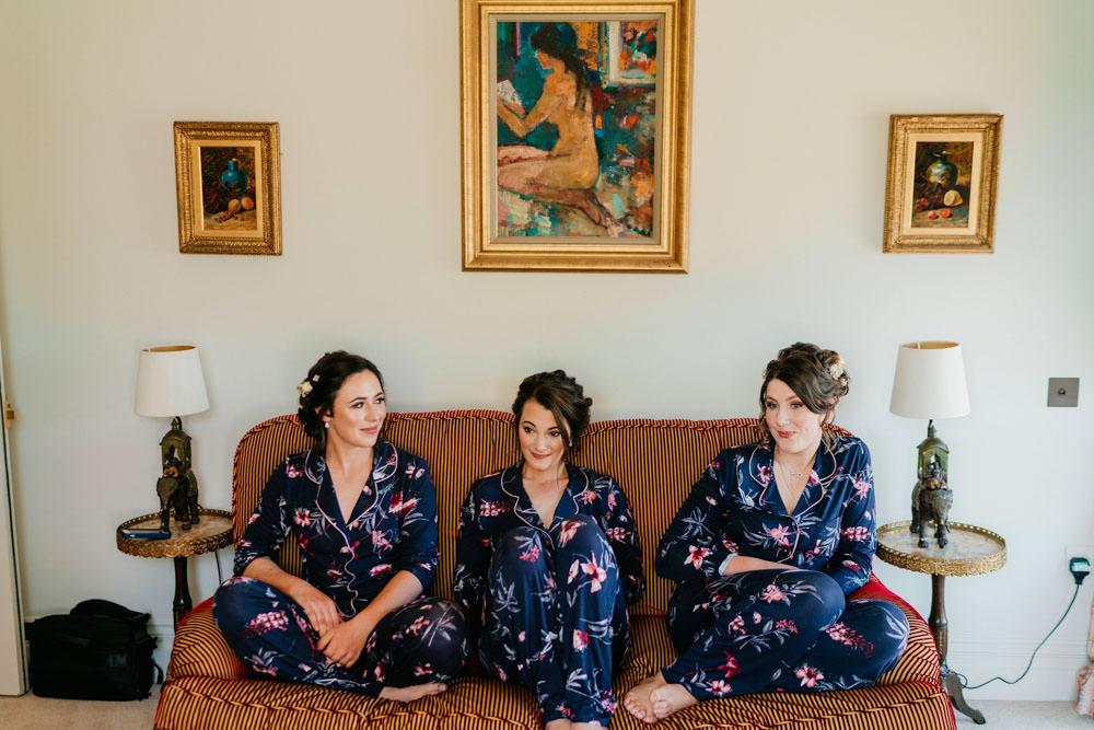 Bride Bridal Bridesmaids Dressing Gowns Robes Burgundy Barn Wedding Jarek Lepak