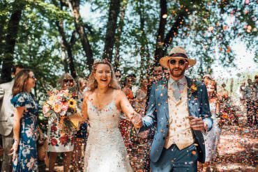 Colourful & Fun France Destination Wedding in a Heat Wave