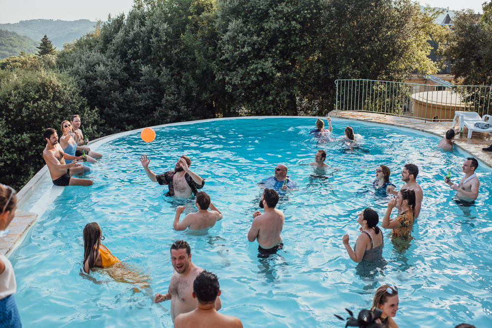Pool Party Chateau de Lacoste Wedding The Shannons Photography