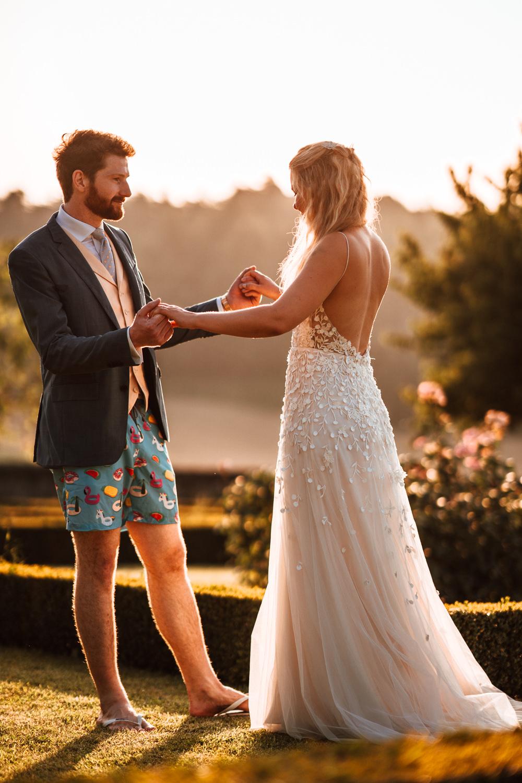 Bride Bridal Dress Gown Alexandra Grecco Split Straps Chateau de Lacoste Wedding The Shannons Photography