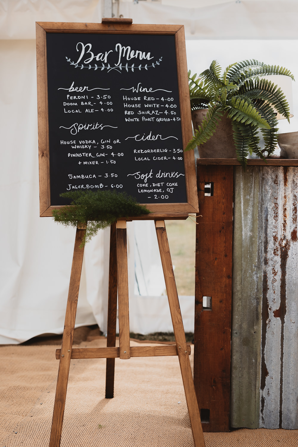 Black Board Chalk Bar Menu Sign Signs Signage Clear Marquee Wedding Sarah Brookes Photography