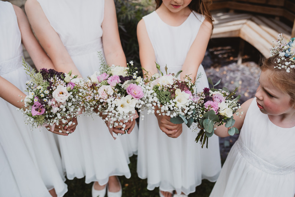 Flower Girls Bouquets Flowers Clear Marquee Wedding Sarah Brookes Photography