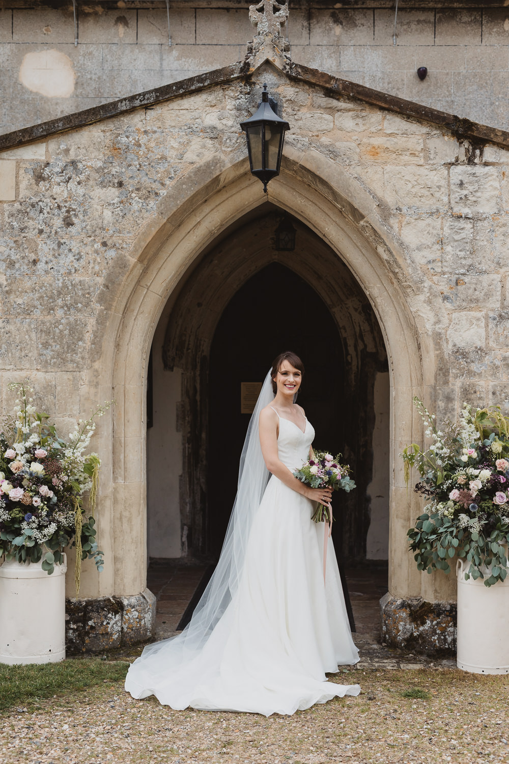 Dress Gown Bride Bridal Straps V Train Clear Marquee Wedding Sarah Brookes Photography