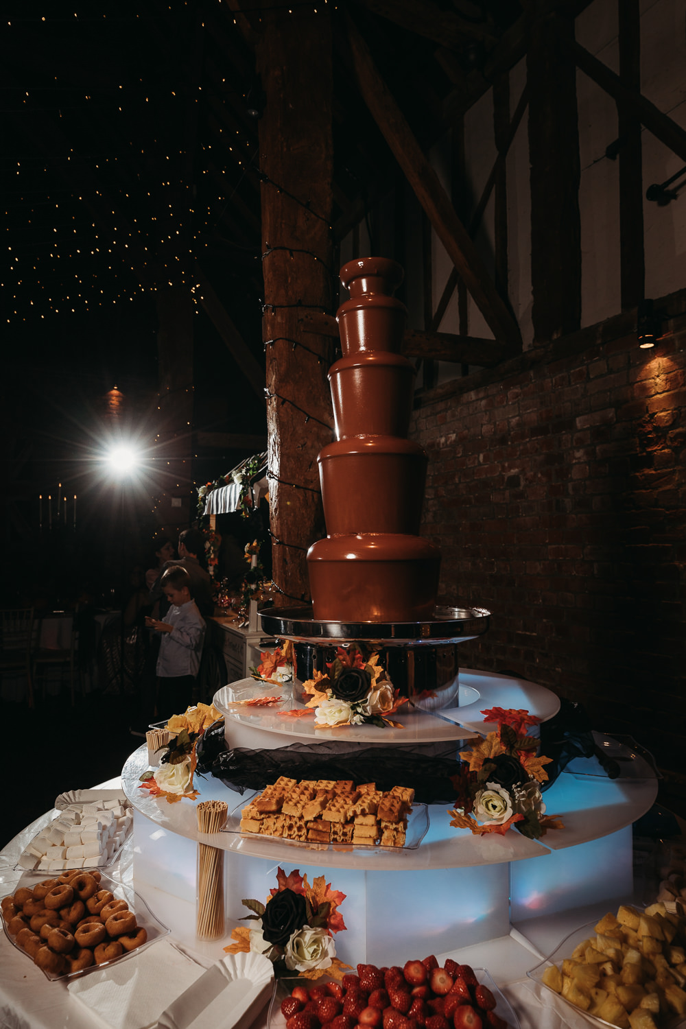 Chocolate Fountain Cooling Castle Barn Wedding Thyme Lane Photography