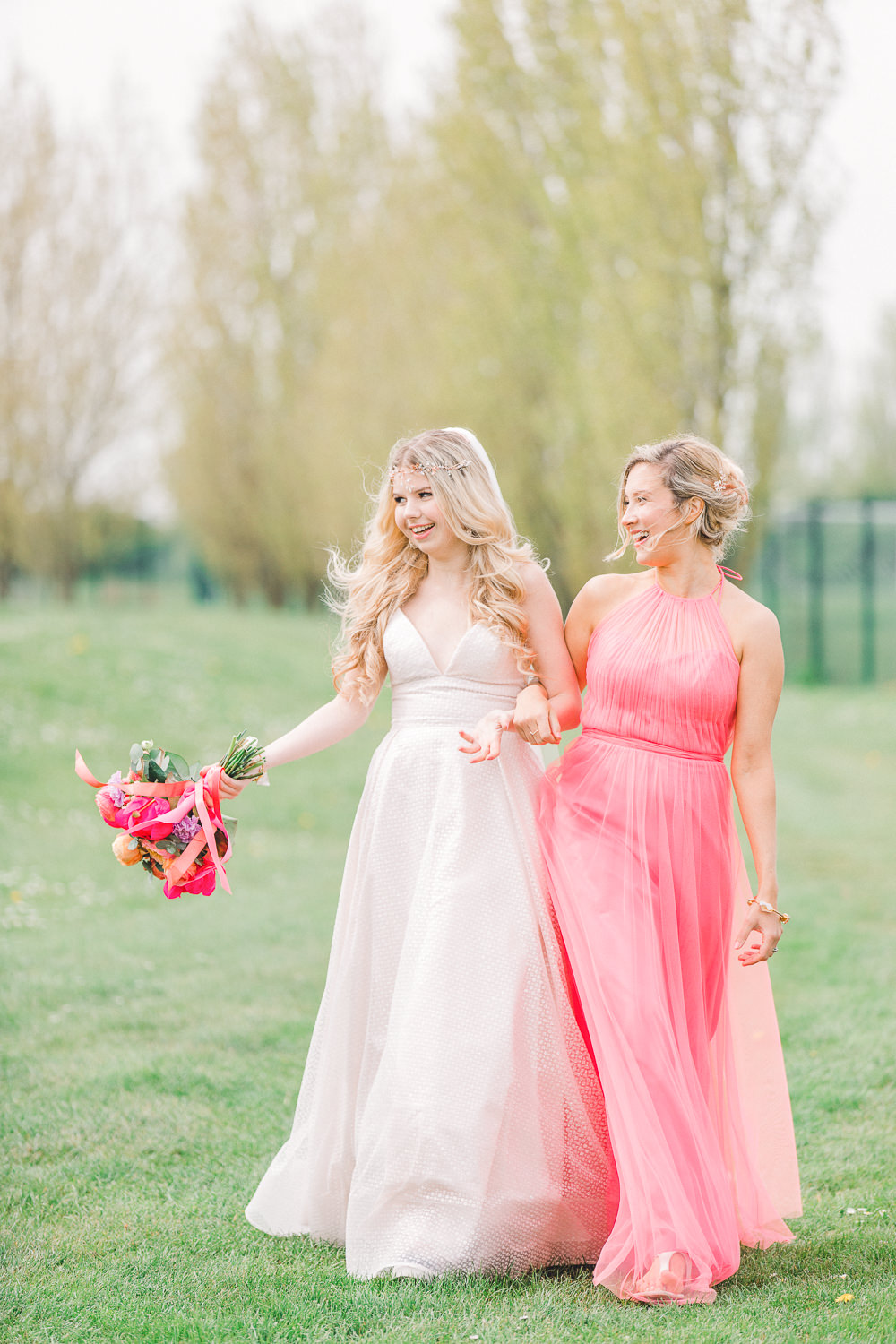 Bridesmaid Bridesmaids Dress Dresses Coral Peach Wedding Ideas Courtney Dee Photography