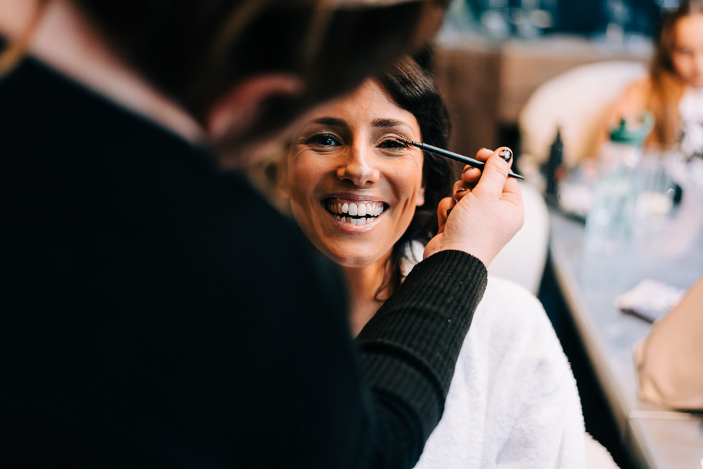 Bride Bridal Make Up Glazebrook House Wedding Harriet Bird Photography