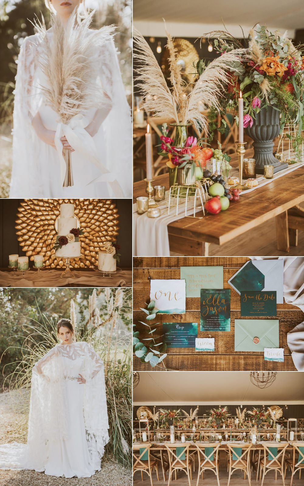 Green Gold Wedding Ideas Samantha Davis Photography