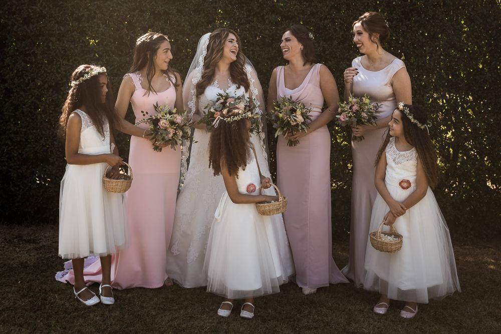 Bridesmaids Bridesmaid Dress Dresses Pink Haughley Park Barn Wedding Him and Her Wedding Photography