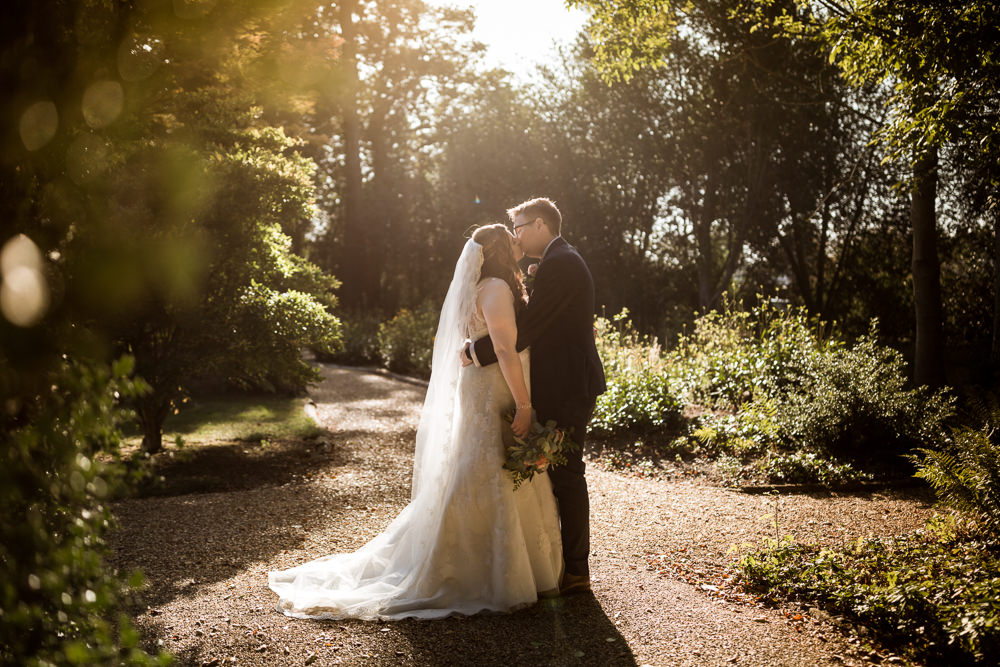 Dress Gown Bride Bridal Lace Veil Haughley Park Barn Wedding Him and Her Wedding Photography