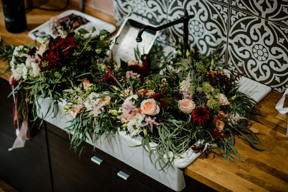 Bouquet Flowers Bride Bridal Sink Butler Indie Autumn Wedding Kazooieloki Photography