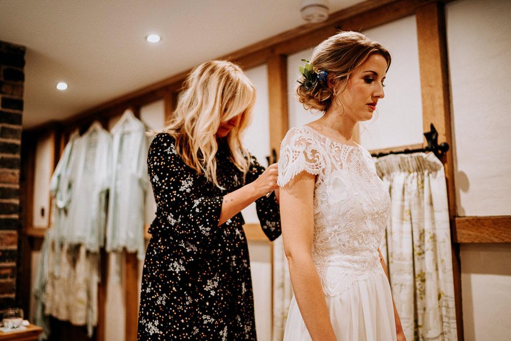 Bride Bridal Dress Gown Lace Cap Sleeves Individual Tipi Wedding Bridgwood Wedding Photography
