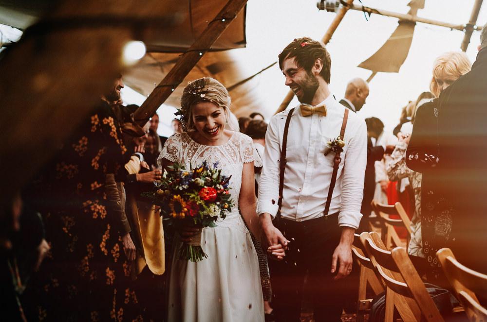 Confetti Throw Individual Tipi Wedding Bridgwood Wedding Photography