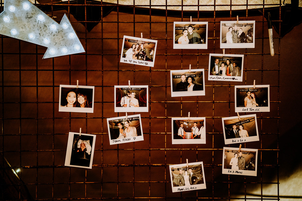 Polaroid Photo Wall Individual Tipi Wedding Bridgwood Wedding Photography