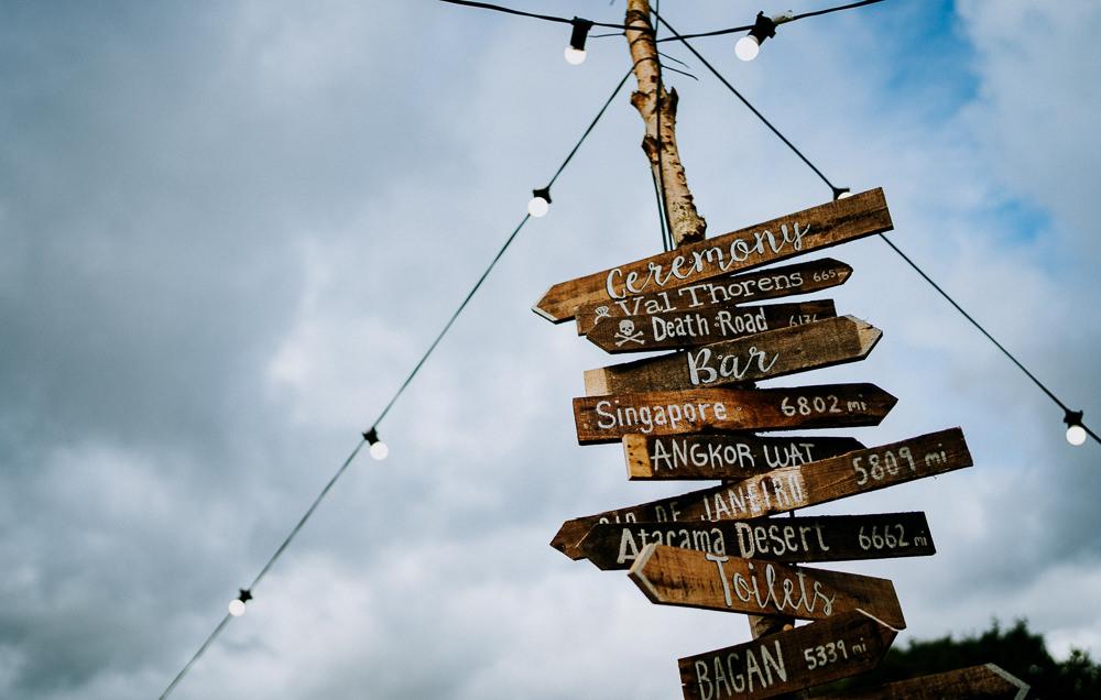 Wooden Signs Sign Signage Signpost Individual Tipi Wedding Bridgwood Wedding Photography