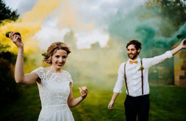 Individual Tipi Wedding Bridgwood Wedding Photography Smoke Bomb Photo Portraits