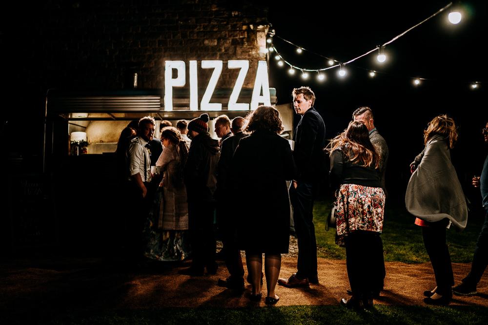 Food Truck Van Pizza Individual Tipi Wedding Bridgwood Wedding Photography