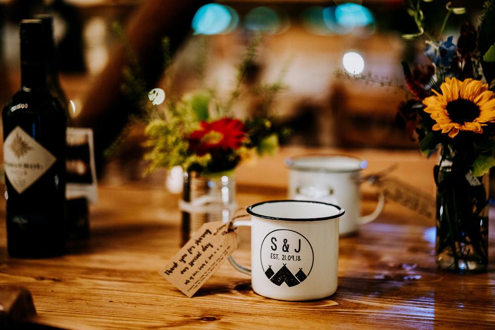 Mug Favours Individual Tipi Wedding Bridgwood Wedding Photography