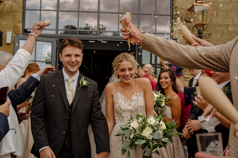 Confetti Industrial Barn Wedding Toast Of Leeds