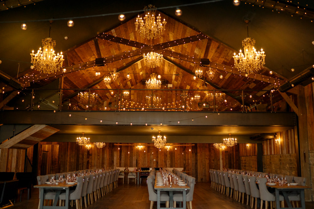 Chandeliers Fairy Lights Decor Lights Lighting Industrial Barn Wedding Toast Of Leeds