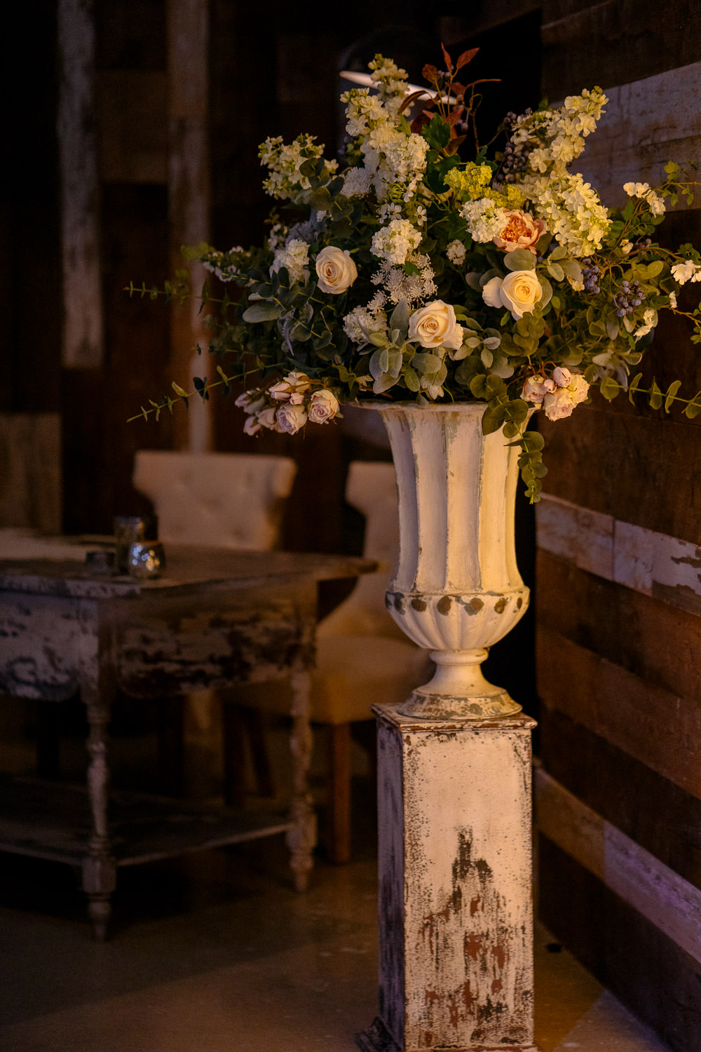 Tall Flowers Flower Arrangement Industrial Barn Wedding Toast Of Leeds