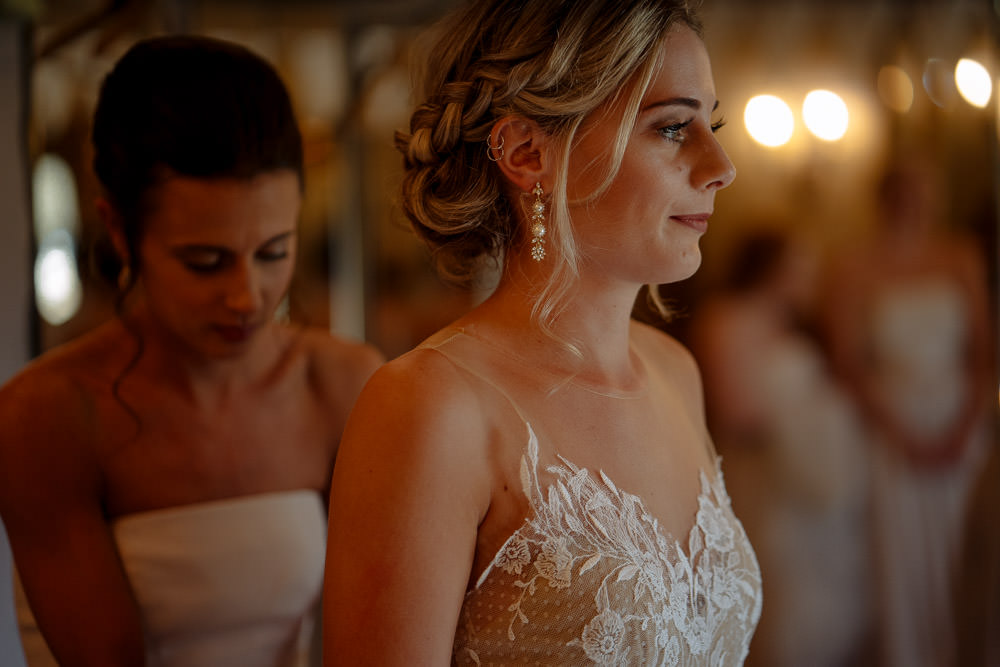 Bride Bridal Hair Style Up Do Veil Industrial Barn Wedding Toast Of Leeds
