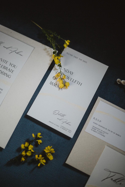Modern Calligraphy Stationery Invite Invitations Le Marche Wedding Inspiration Francesca Angrisano