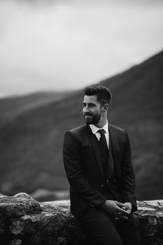 Groom Suit Navy Blue Tie Le Marche Wedding Inspiration Francesca Angrisano