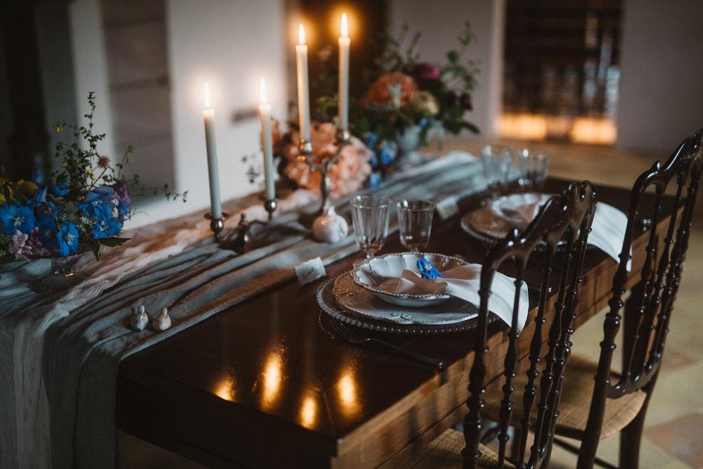 Table Tablescape Decor Candles Le Marche Wedding Inspiration Francesca Angrisano