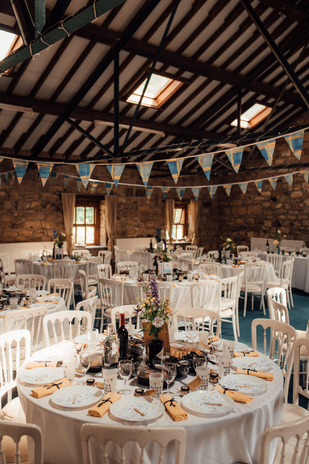 Barn Bunting Decor Lineham Farm Wedding Marni V Photography