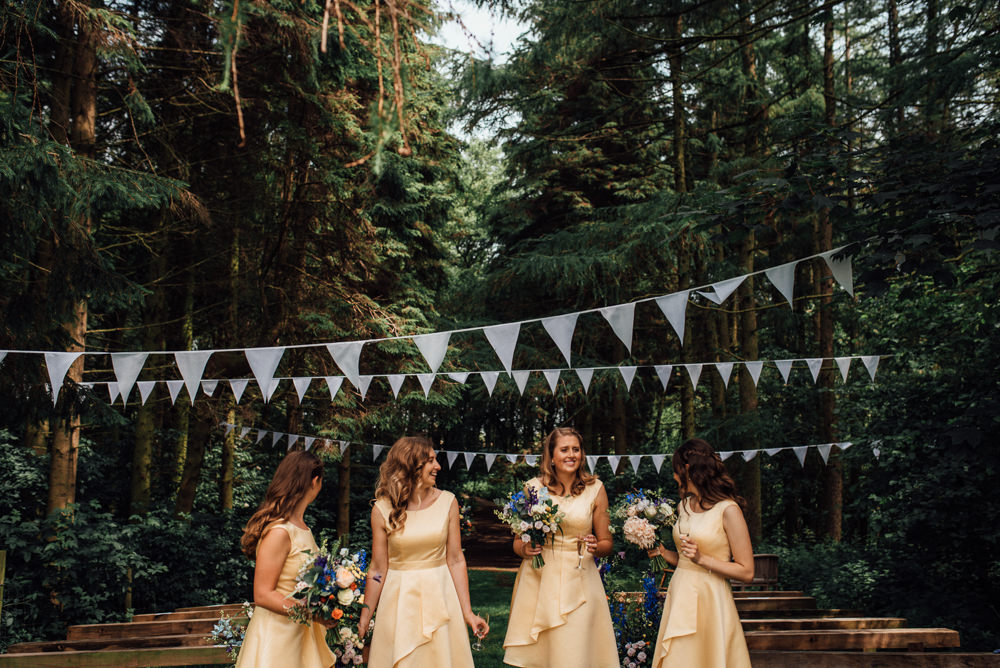 Flower Girl Bridesmaid Bridesmaids Dresses Dress Yellow Lineham Farm Wedding Marni V Photography