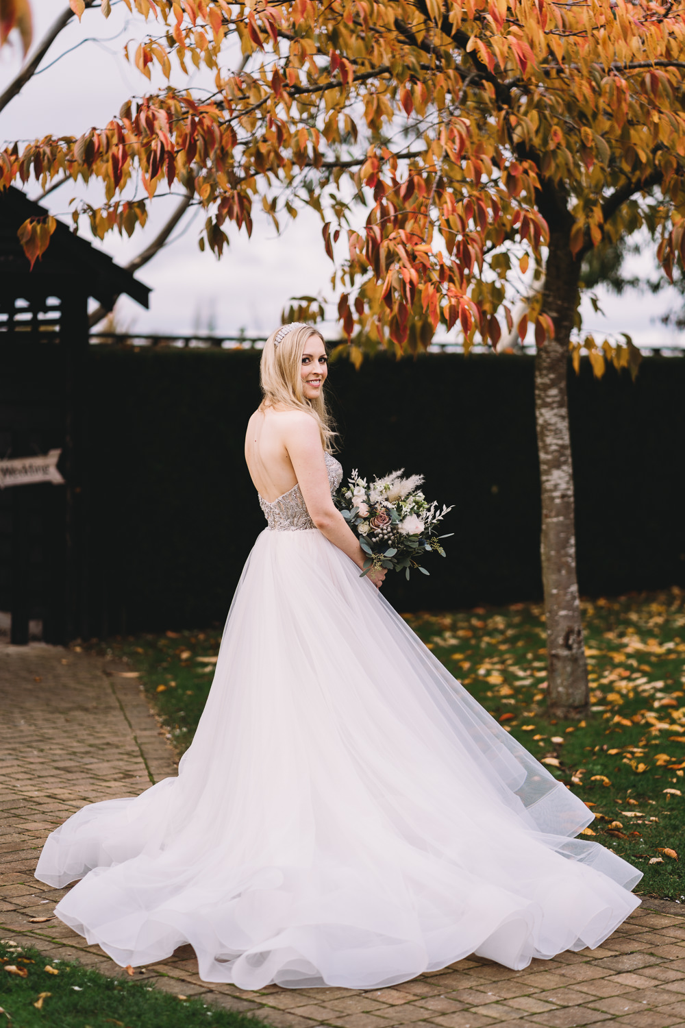 Dress Gown Bride Bridal Princess Strapless Tulle Skirt Maidens Barn Wedding Sophie Oldhamstead Photography