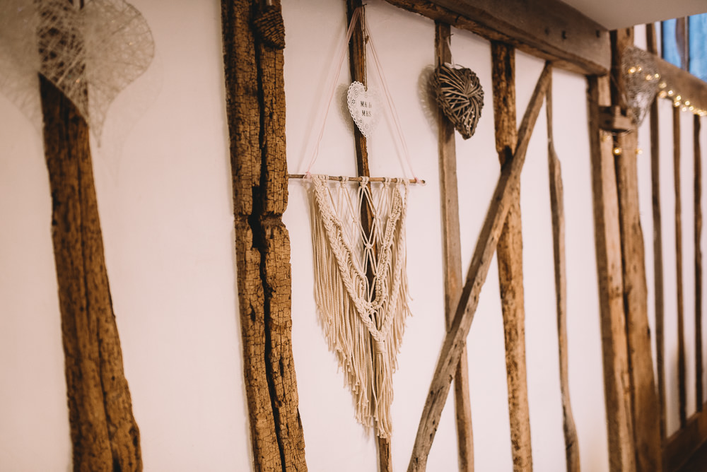 Macrame Wall Hanging Maidens Barn Wedding Sophie Oldhamstead Photography