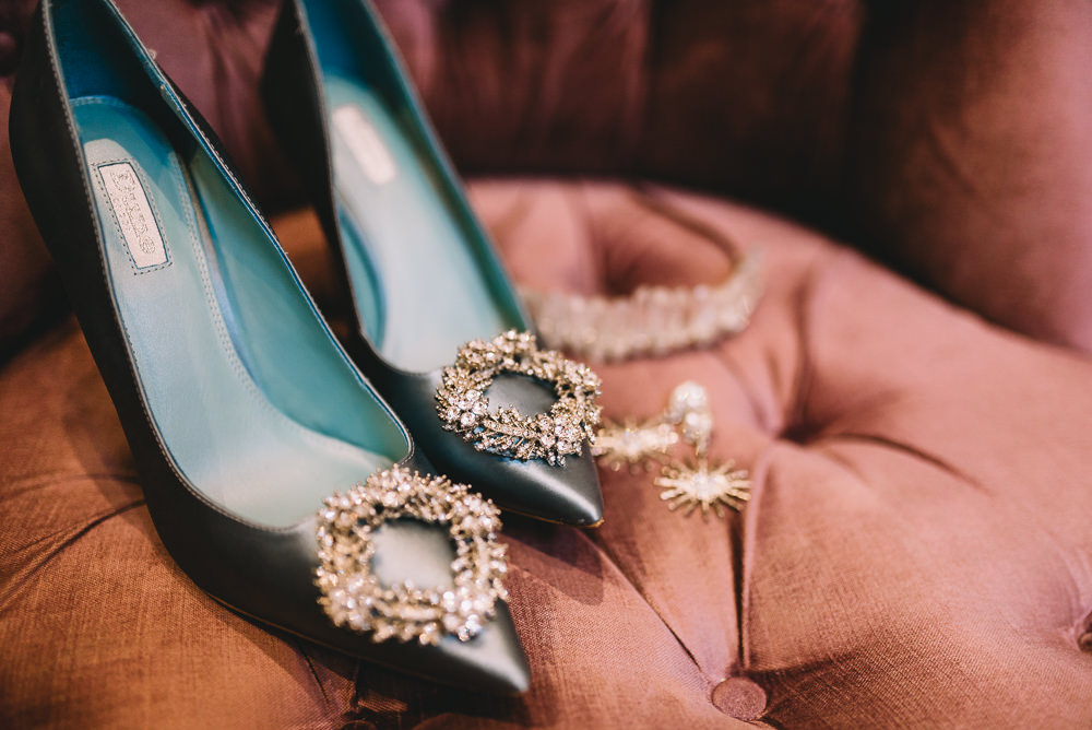 Blue Shoes Bride Bridal Maidens Barn Wedding Sophie Oldhamstead Photography