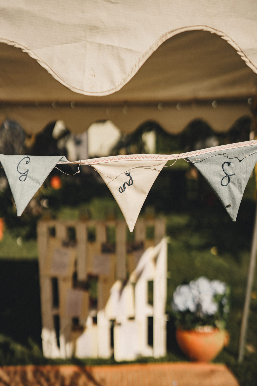 Personalised Bunting Marquee Wedding Home The Chamberlins
