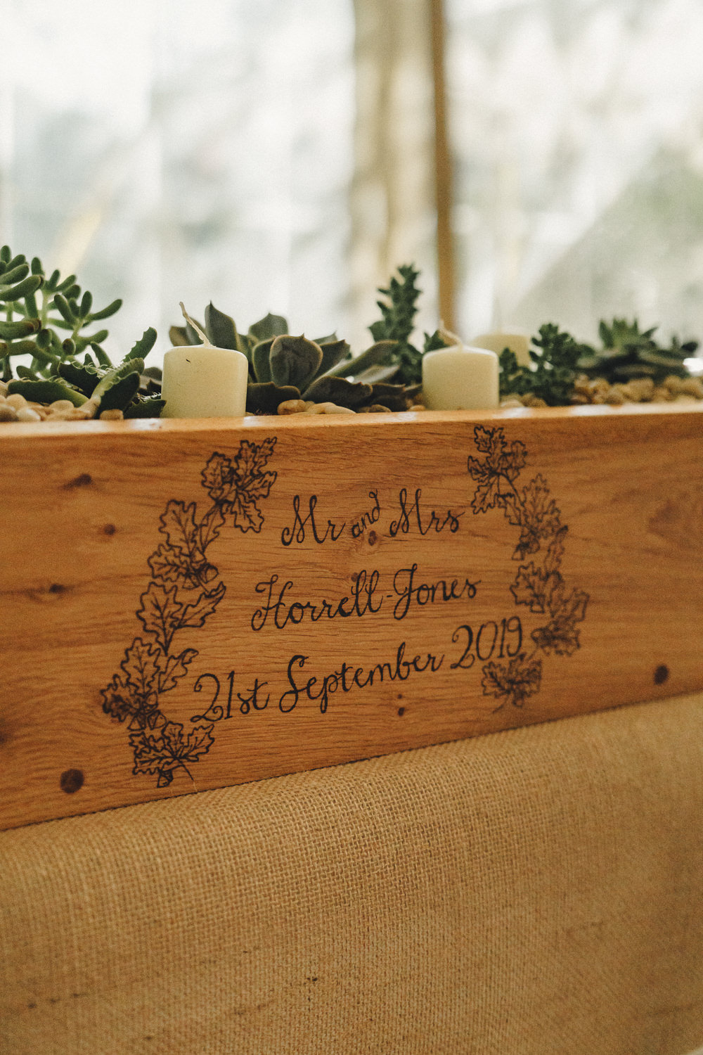 Personalised Wooden Box Flowers Marquee Wedding Home The Chamberlins