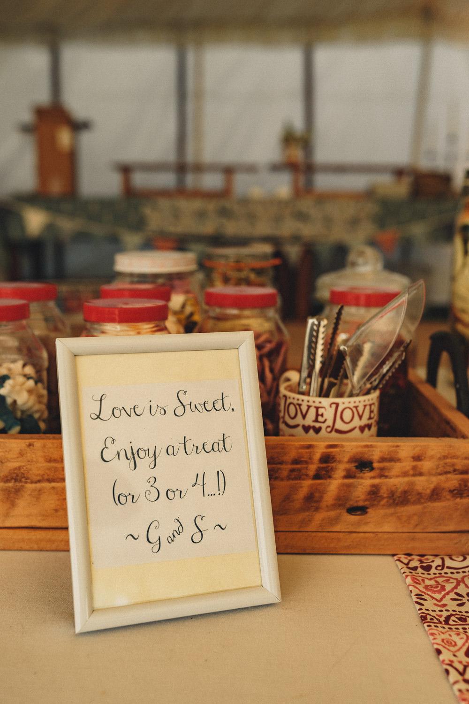 Sweets Sweetie Table Emma Bridgewater Mug Marquee Wedding Home The Chamberlins