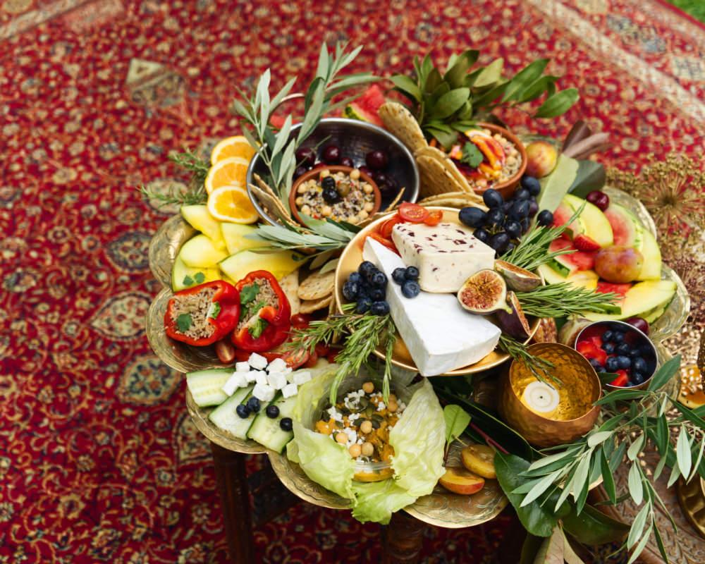 Grazing Table Sharing Platter Fruit Cheese Moroccan Wedding Inspiration Luke Batchelor Productions