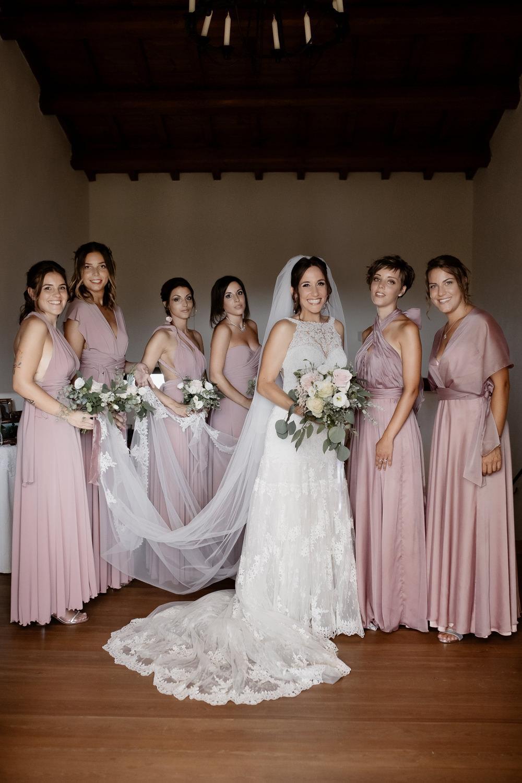 Bridesmaids Bridesmaid Dress Dresses Pale Pink Natural Italy Villa Wedding Flavia Eleonora Tullio