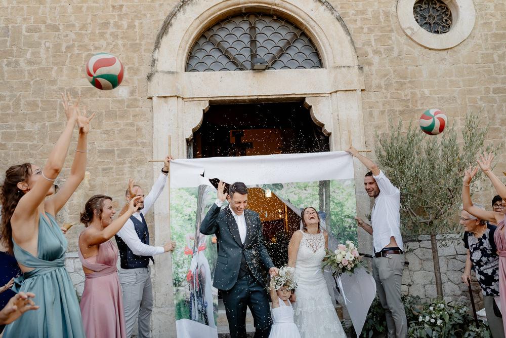 Confetti Throw Natural Italy Villa Wedding Flavia Eleonora Tullio
