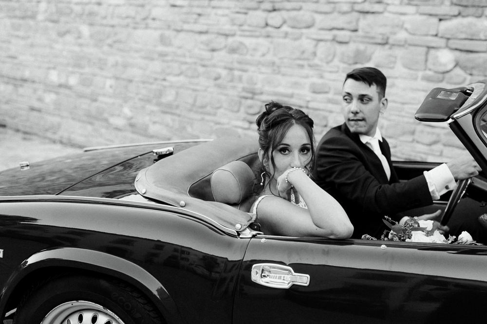 Classic Car Transport Natural Italy Villa Wedding Flavia Eleonora Tullio