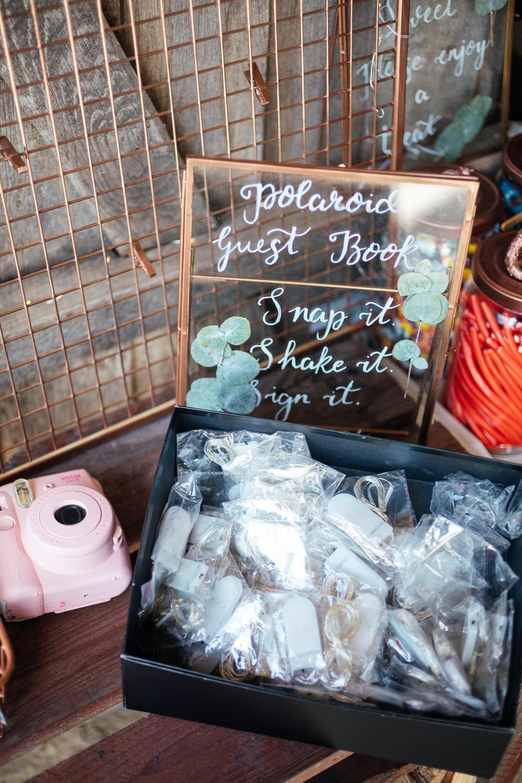 Polaroid Guest Book Oak Barn Wedding Matilda Delves Photography