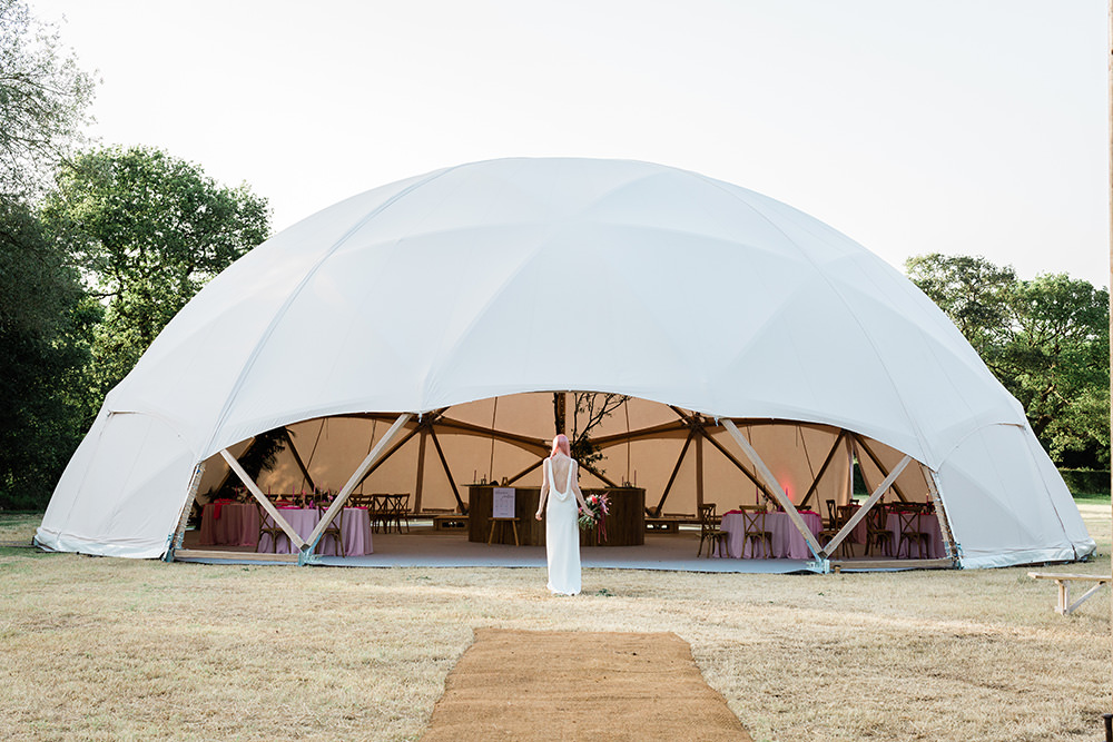 Pink Geodome Wedding Ideas Louise Henesy Photography