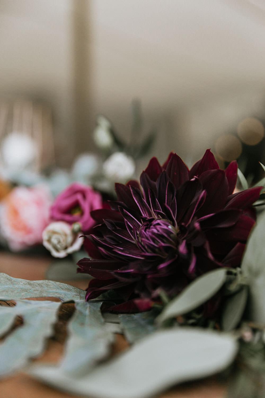 Flowers Burgundy Dahlia Summer Boho Wedding Wild Tide Weddings
