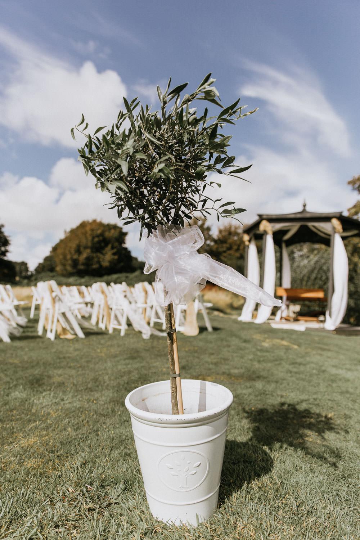 Bay Tree Ceremony Bow Summer Boho Wedding Wild Tide Weddings