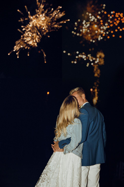 Fireworks Summer Boho Wedding Wild Tide Weddings