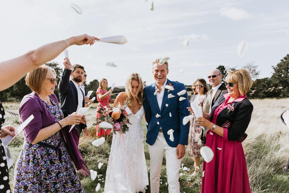 Confetti Throw Summer Boho Wedding Wild Tide Weddings