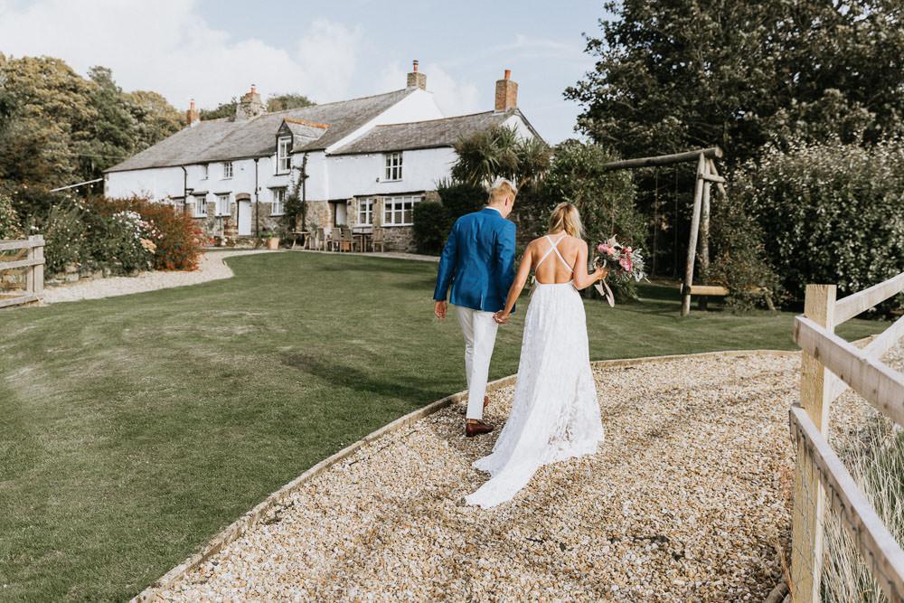 Colan Barton Cornwall Summer Boho Wedding Wild Tide Weddings