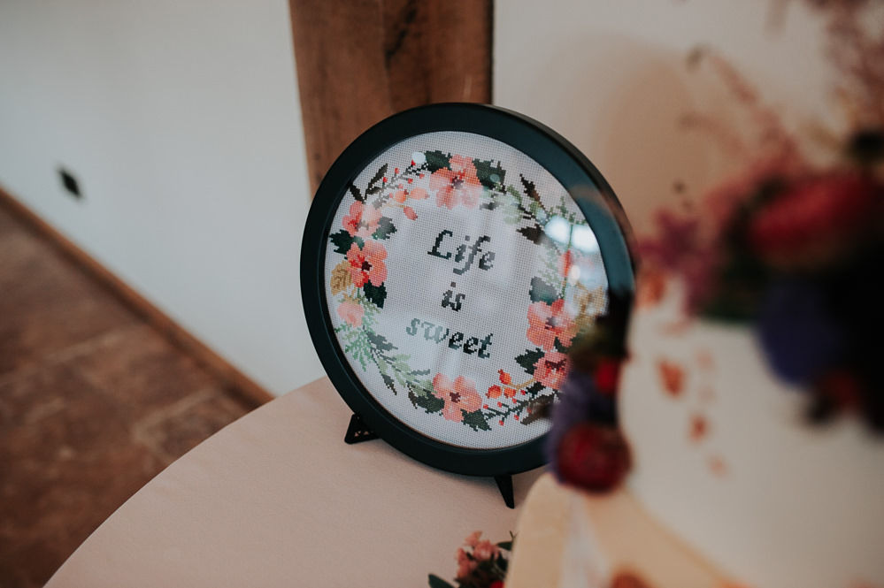 Cake Table Sign Signs Signage Swancar Farm Country House Wedding Maree Frances Photography