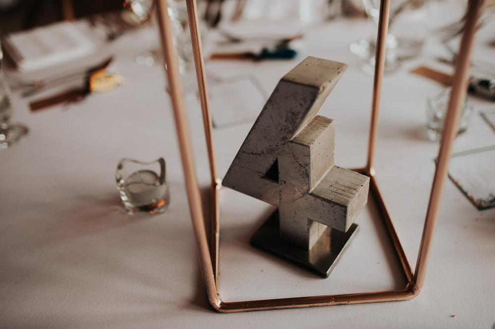 Concrete Table Name Number Swancar Farm Country House Wedding Maree Frances Photography
