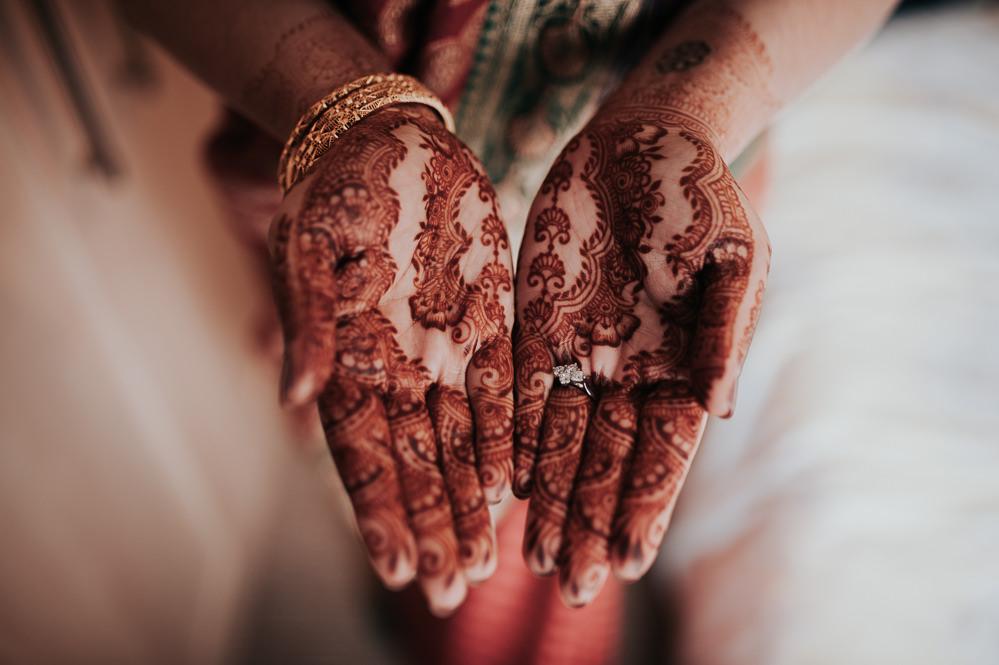 Henna Bride Bridal Swancar Farm Country House Wedding Maree Frances Photography